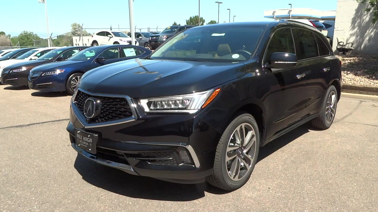 new 2017 acura mdx sh awd with advance package sport utility in denver 17586 mile high acura. Black Bedroom Furniture Sets. Home Design Ideas